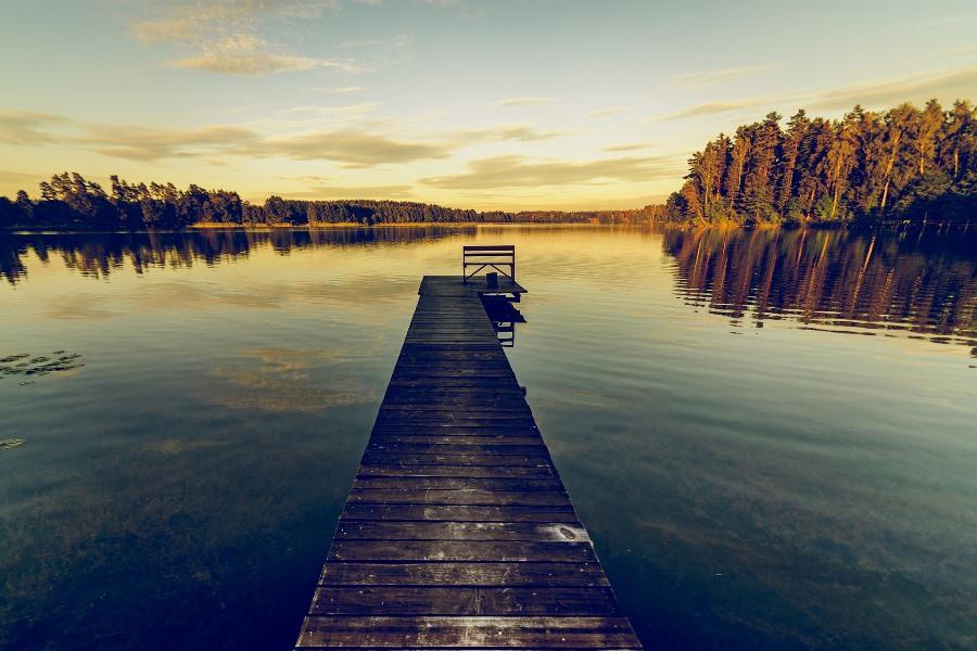jezioro Mazury molo