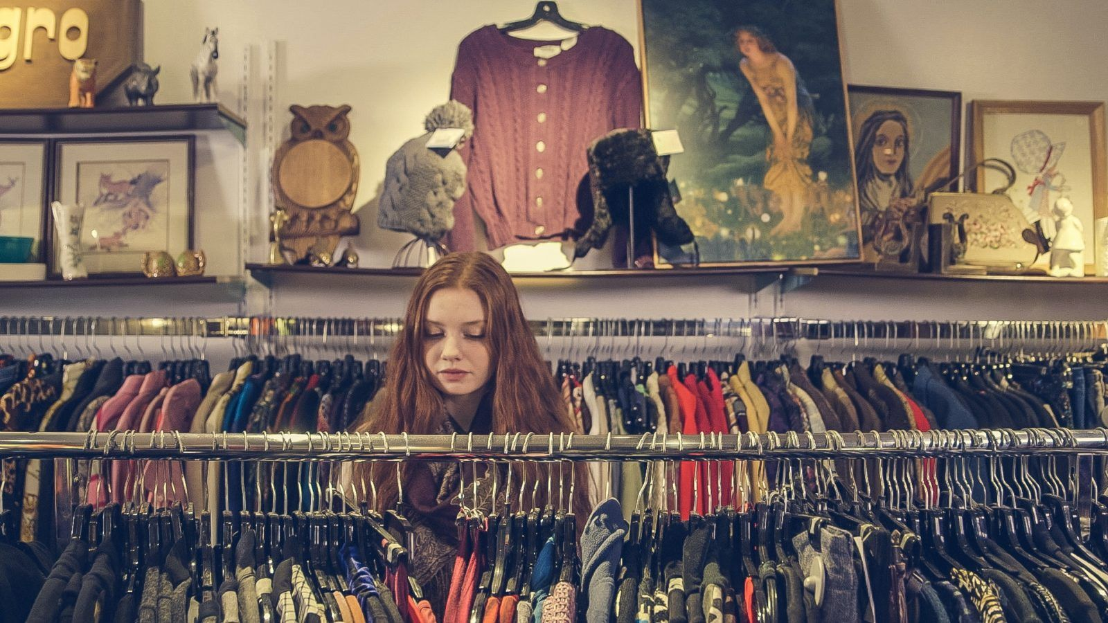 second hand clothes shopping