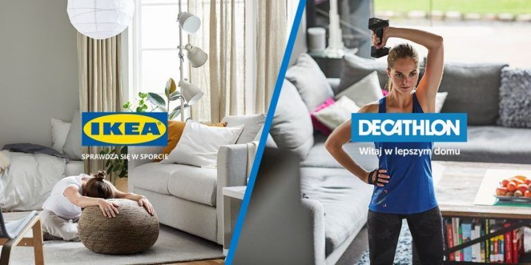 Decathlon and IKEA exercise together at home