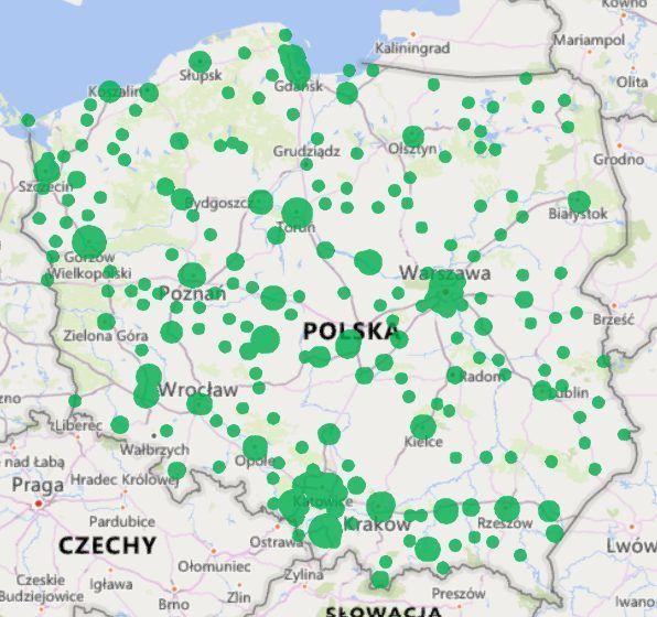 mapa sklepy z bielizną