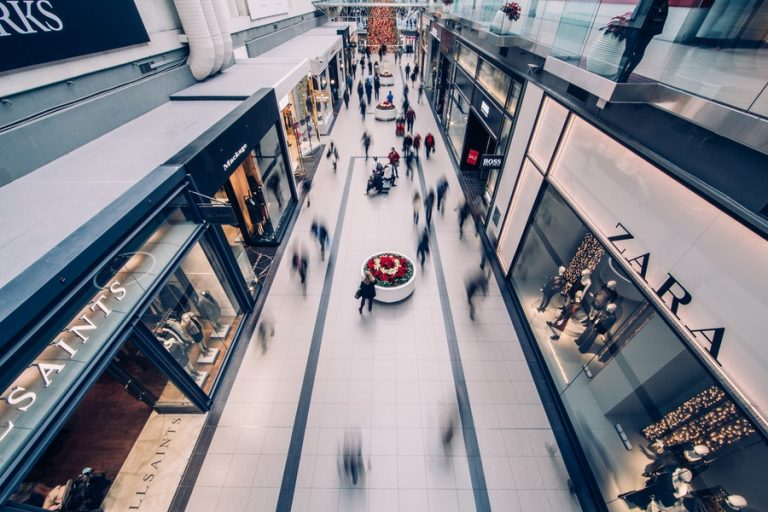Customers are pleased to return to shopping malls