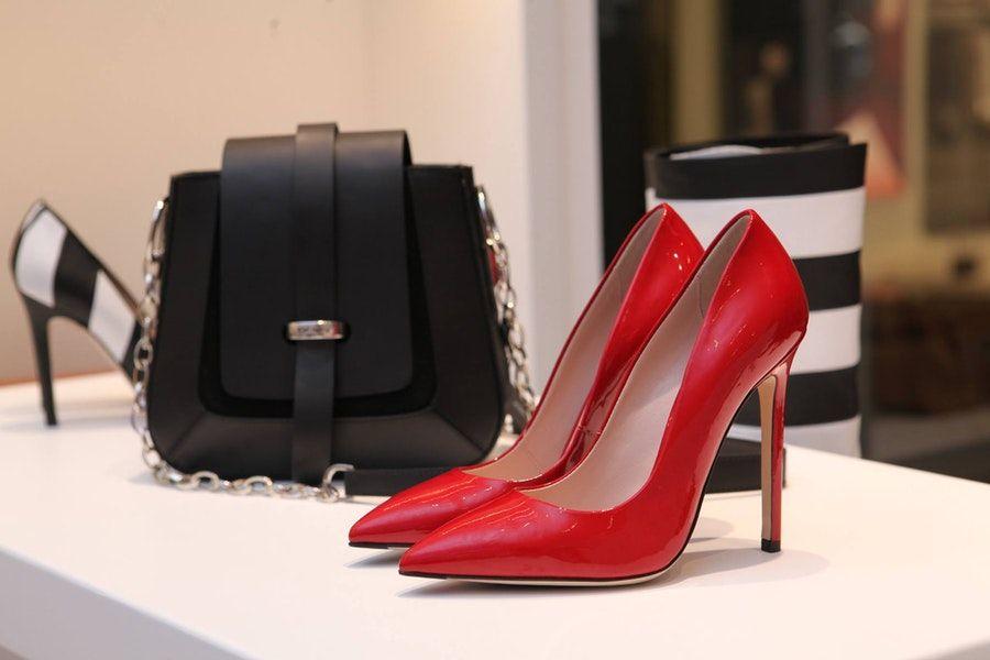 heels and bag